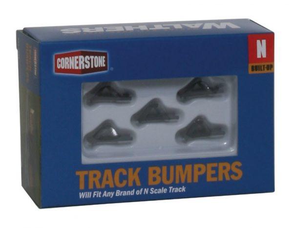 Walthers Cornerstone 2605  Track Bumper - Dark Gray pkg(5)