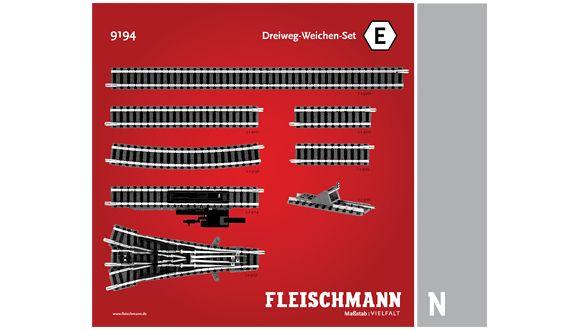 Fleischmann 9194  N scale track set E
