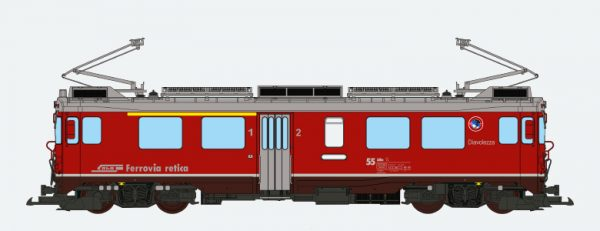 ESU 30144  Electric Railcar ABe 4/4 III, Diavolezza, of the RhB
