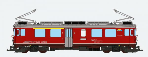 ESU 30145  Electric Railcar ABe 4/4 III, Corviglia, of the RhB
