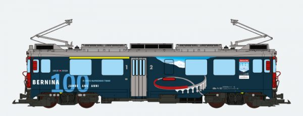 ESU 30394  Electric Railcar ABe 4/4 III, Brusio, Bernina