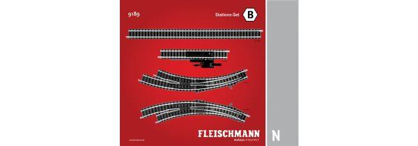 Fleischmann 9189  N Track pack. Station Set B