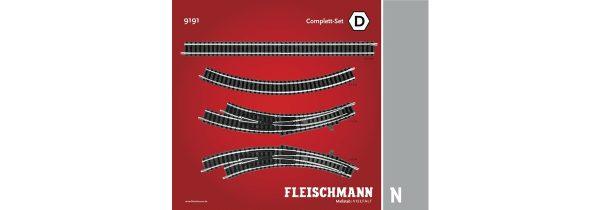 Fleischmann 9191  N Track pack. Complete Set D