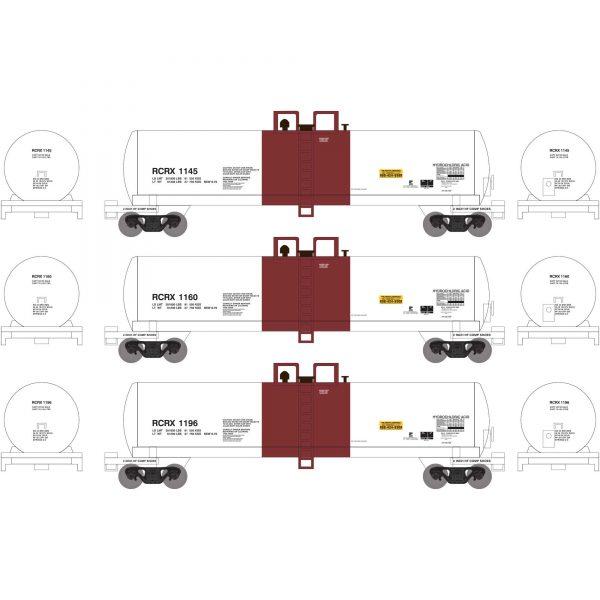 Athearn 13722   GATC 20K Tank Car, RCRX (3 Pack)