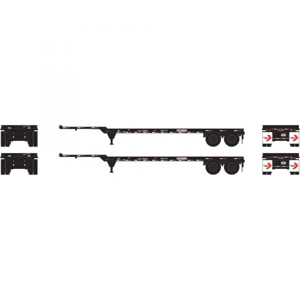 Athearn 14294  40' Chassis Flexi-Van (2 Pack)