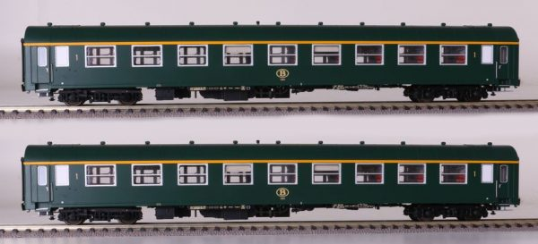 LS Models 42160  2 piece set:  1st & 1st/2nd class passenger coaches, SNCB