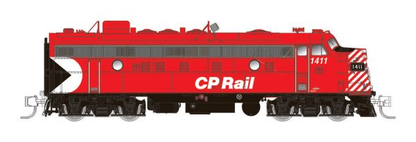 "Rapido Trains 530028  Diesel Locomotive FP9A, CP Rail 5"" Stripes"