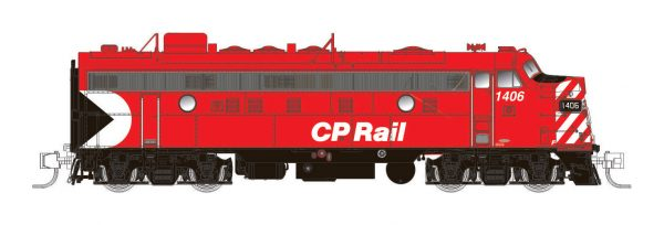 "Rapido Trains 530032  Diesel Locomotive FP9A, CP Rail 8"" Stripes"