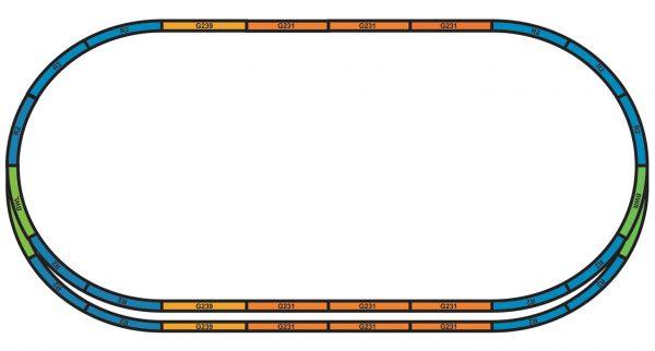 Piko 55367 HO Bedding Extension sets for starter set Track A+E