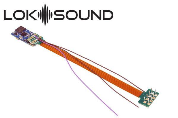 "ESU 58810  LokSound 5 micro DCC/MM/SX/M4 ""blank decoder"", 8-pin NEM652, with Speaker 11x15mm"