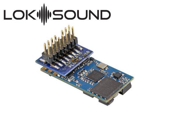 "ESU 58814  LokSound 5 micro DCC/MM/SX/M4 ""blank decoder"", PluX16, with Speaker 11x15mm"