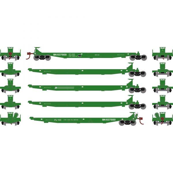 Athearn 15660   IMPACK Spine Car, BN (5 Cars)