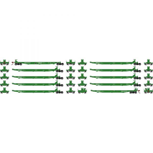 Athearn 15662   IMPACK Spine Car, ITEL (10 Cars)