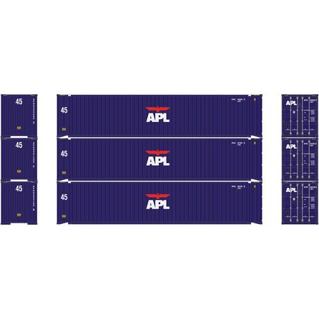 Athearn 27034  45' Container, APL (3 Pack)