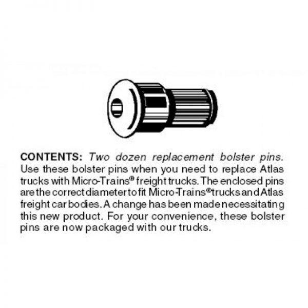Micro Trains 00312030 (1034)    Conversion Bolster Pins (Atlas-type) 24 ea