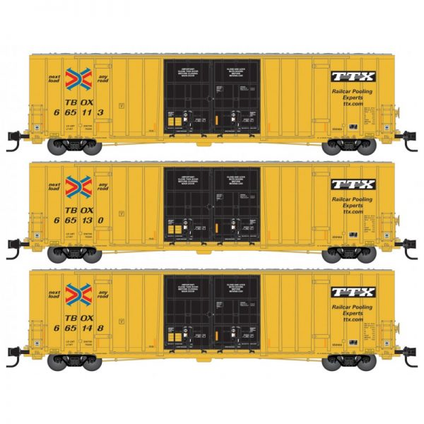 Micro Trains 99301841   60' Rib Side, Double Plug Door High-Cube, TTX