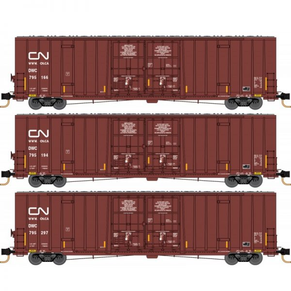 Micro Trains Line 99301870   60' Double Plug Door High-Cube, CN (3 Pack)