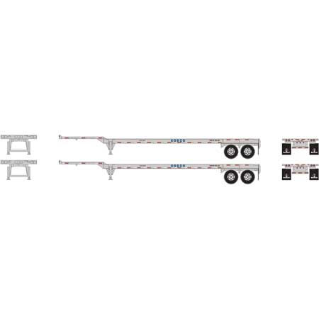 Athearn 26611   45' Container Chassis, COSCO (2 Pack)
