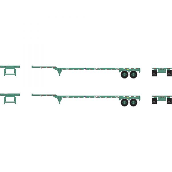 Athearn 26612   45' Container Chassis, China Shipping (2 Pack)