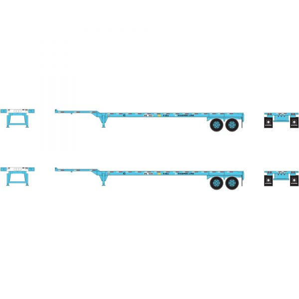 Athearn 26613   45' Container Chassis, Maersk (2 Pack)