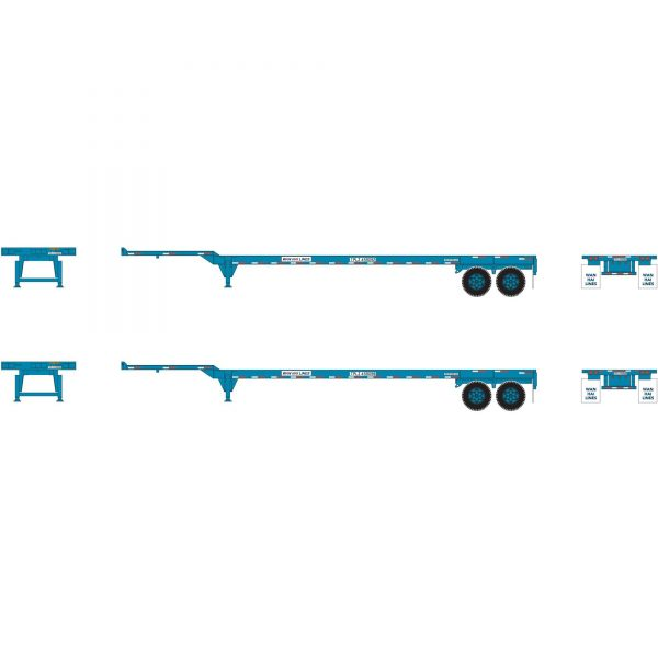 Athearn 26614   45' Container Chassis, Wan Hai (2 Pack)