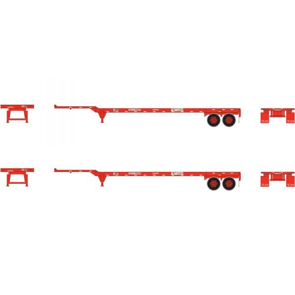 Athearn 26632   45' Container Chassis, K-Line (2 Pack)