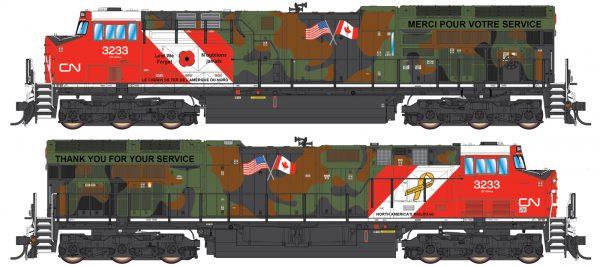 "Intermountain Railway 497109-01  Diesel Locomotive ""Tier 4"" GEVO, CN Veterans"