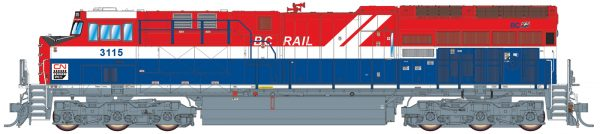 "Intermountain Railway 497110-01  Diesel Locomotive ""Tier 4"" GEVO, CN Heritage BC Rail"