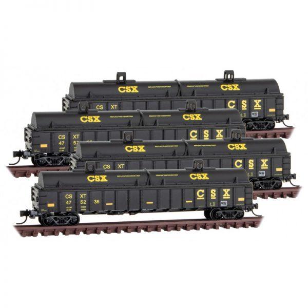 Micro Trains 99300173   4-Pk Coil cover car, CSX