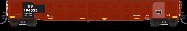 """Trainworx 25213-01   Corrugated 52'6"""" gondola, NS"""