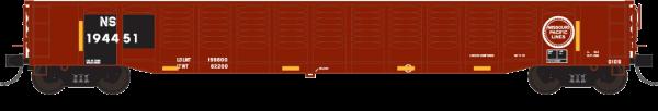 """Trainworx 25213-04   Corrugated 52'6"""" gondola, NS"""