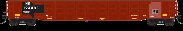 """Trainworx 25213-06   Corrugated 52'6"""" gondola, NS"""