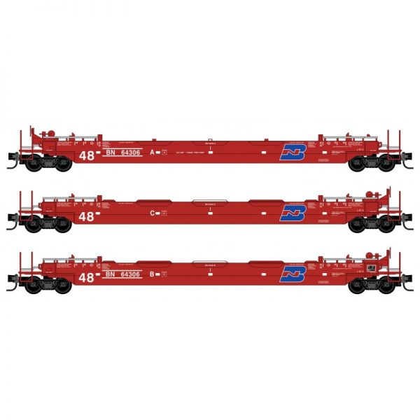 Micro Trains 99300182   48' Husky Stack Well Car, BN