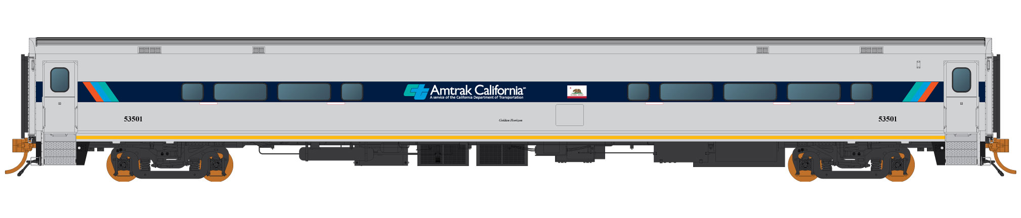 "Rapido Trains 128032  ""Golden Horizon"" Dinette, Amtrak California"