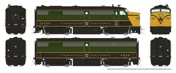 Rapido Trains 21106   Diesel Locomotive FPA/B-2u, CN