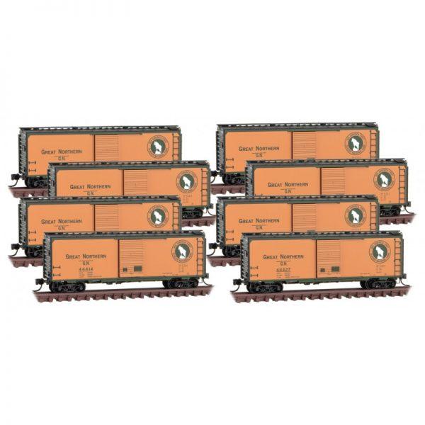 Micro Trains 99300820   Boxcar 8-pk, GN