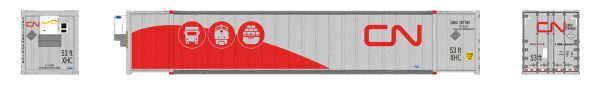 Rapido Trains 402015  53' high-cube Container, CN - Intermodal (2-pack)
