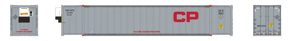 Rapido Trains 402016  53' high-cube Container, CP - Gray (2-pack)