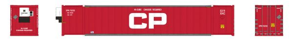 Rapido Trains 402017  53' high-cube Container, CP - Red (2-pack)