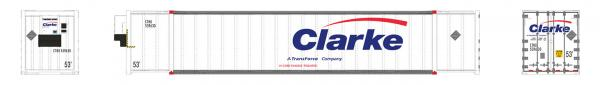 Rapido Trains 402021  53' high-cube Container, Clarke (Transforce) (2-pack)