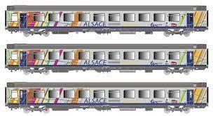 """LS Models 40282  Three-piece passenger set VTU/VU """"Alsace s'Elsass"""", SNCF"""