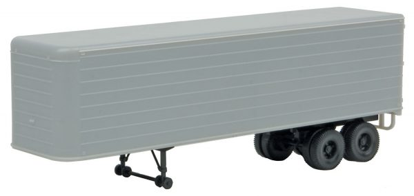 Walthers SceneMaster 2400  35' Fluted-Side Trailer, UNDEC (2 Pack)