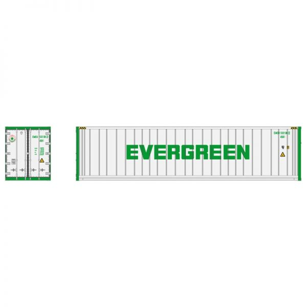 Atlas 50005998   40' Refrigerated Containers, Evergreen (3 Pack)