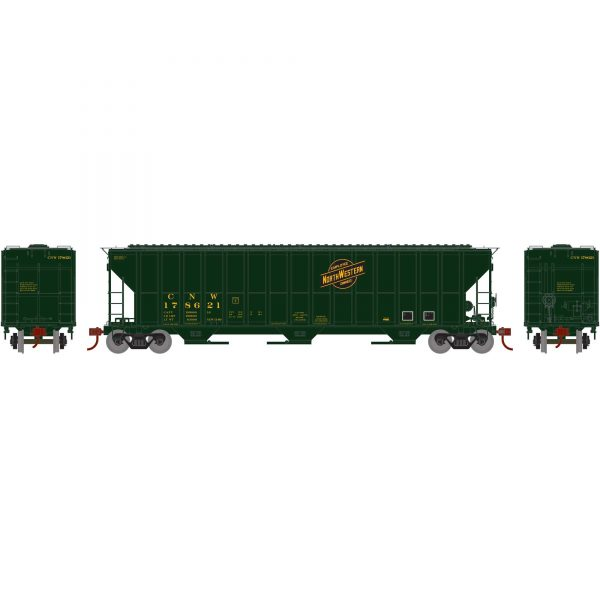 Athearn HO 81559  FMC 4700 Covered Hoppers, C&NW