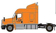 Trainworx 42585-01   Freightliner Cascadia Mid-Roof Tractor, Yellow
