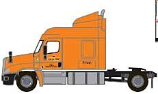 Trainworx 42585-02   Freightliner Cascadia Mid-Roof Tractor, Yellow