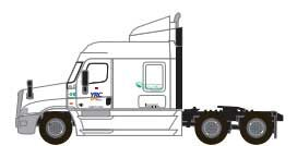 Trainworx 42590-01   Freightliner Cascadia Mid-Roof Tractor, YRC Freight