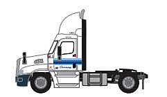 Trainworx 42591-04  Freightliner Cascadia Raised-Roof 2-Axle Semi Tractor, XPO Logistics