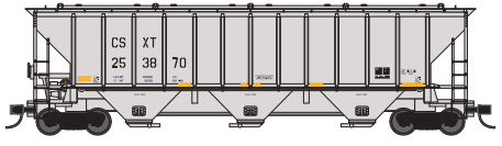 Trainworx 24424-06   PS4427 Covered Hopper, CSX