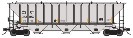 Trainworx 24424-02   PS4427 Covered Hopper, CSX